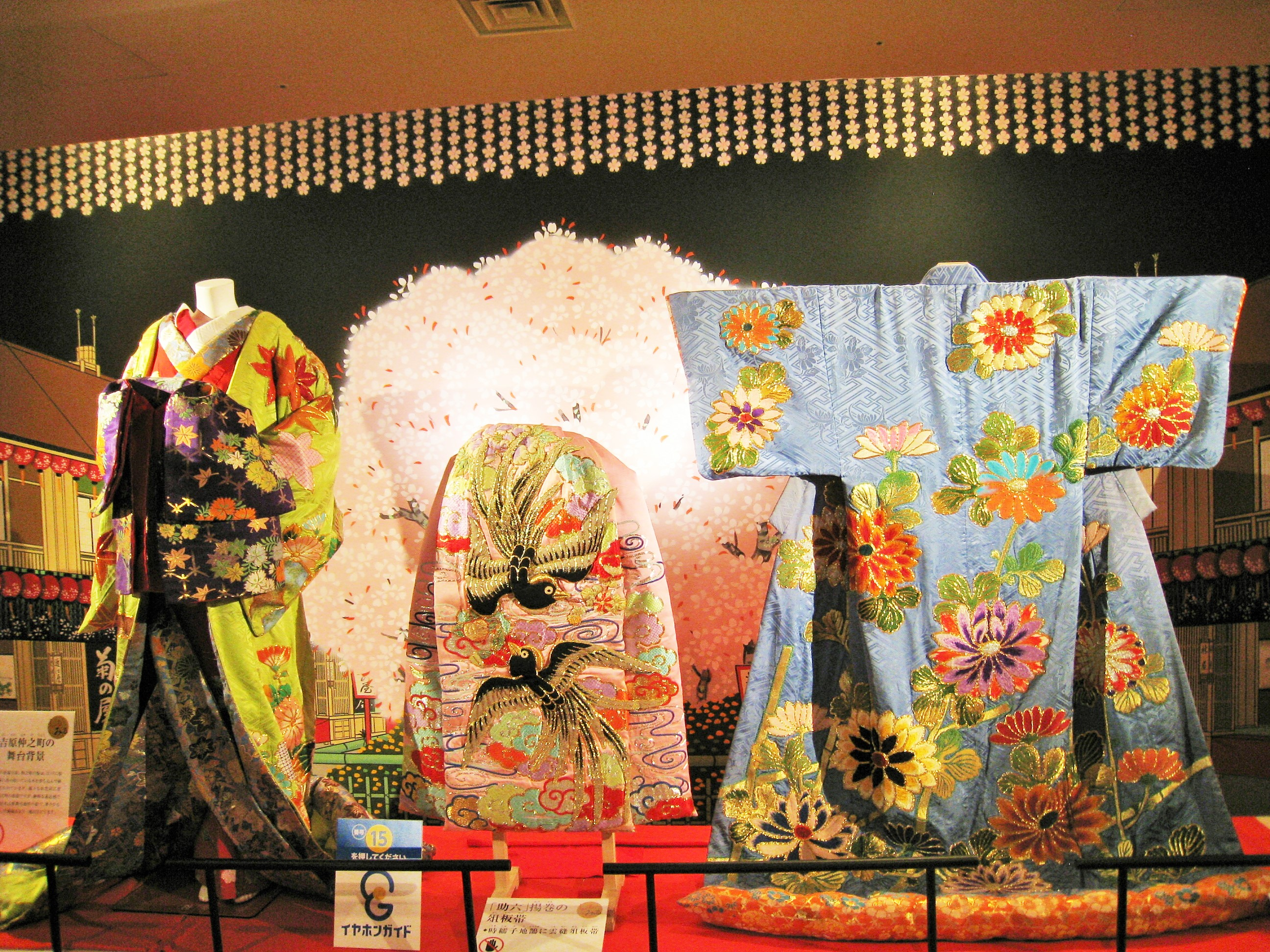 Costumes used for the shows